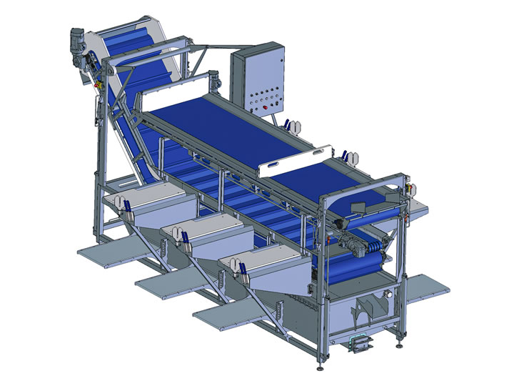 Gutting line workstations for fishery industry, Martak